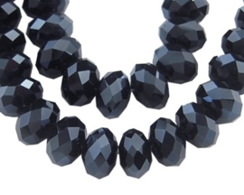 Faceted Rondelles 4 x 6 mm Hematite F612 (per 98 beads)