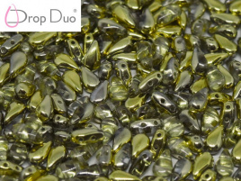 DropDuo 3 x 6 mm Crystal Amber (per 50)