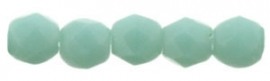 Fire Polished 2,5 mm Matte Opaque - Turquoise (per 50)