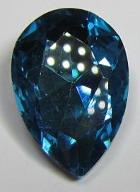 Glass Drop 20 x 30 mm Aquamarine (per 1)