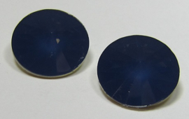Resin Rivoli 16 mm Montana Blue Opal (per 2)