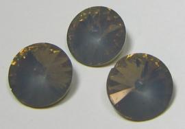 Resin Rivoli 12 mm Grey Opal (per 3)