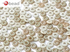 O Bead Chalk White Celsian Matted (5 g.)