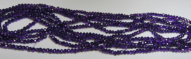 Faceted Rondelles 3 x 4 mm Coated Dark Purple F1178 (per 148 beads)