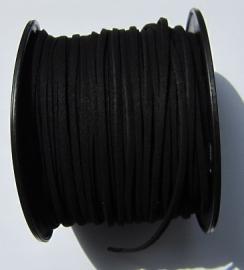 Suede Imitatie 3 mm Black SU026 (per meter)