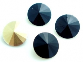 Resin Rivoli 14 mm Black (per 2)