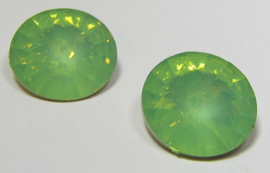 Resin Rivoli 16 mm Bright Chrysolite Opal (per 2)