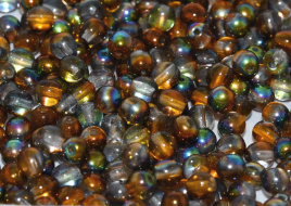 Druk Beads 8 mm Crystal Magic Copper (per 10)