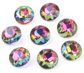Glass Chaton SS39 Grade A Crystal Vitrail Medium (per 3)