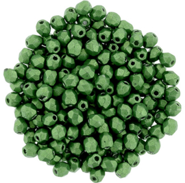 Fire Polished 3 mm Saturated Metallic Kale (per 75)