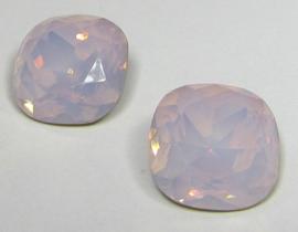 Glas Vierkant 12 mm Pink Opal (per stuk)
