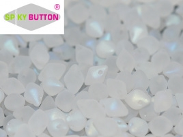 Spiky Button 4,5 x 6,5 mm Crystal Full AB Matted (per 25)