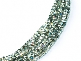 Facet 2 mm Crystal Silver Rainbow (per 150)