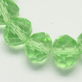 Faceted Rondelles 3 x 4 mm Light Green F544 (per 147 beads)