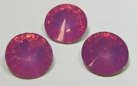 Resin Rivoli 12 mm Very Dark Rose Opal (per 3)