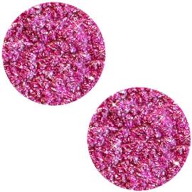 Polaris Cabochon Coin Flat 20 mm Goldstein Fuchsia (per 1)