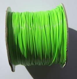 Waxed Cord 1 mm Bright Green W039 (1 meter)