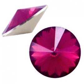 Resin Rivoli 12 mm Fuchsia Opal (per 3)