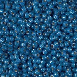 8-0648 Dyed Denim Blue Silverlined Alabaster (per 10 gram)