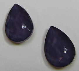Glas Druppel 10 x 14 mm Powdery Purple Velvet (per 2)