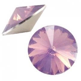 Resin Rivoli 12 mm Cyclamen Rose Opal (per 3)