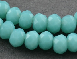 Faceted Rondelles 2 x 3 mm Opaque Turquoise F419-B (per 148 beads)