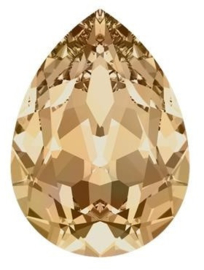 Swarovski Druppel 4320 14 x 10 mm Crystal Golden Shadow (per stuk)