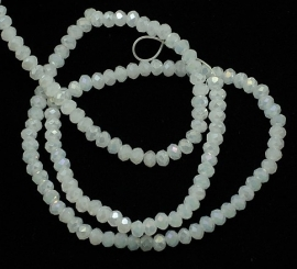 Faceted Rondelles 2 x 3 mm Milky White F1032 (per 138 beads)