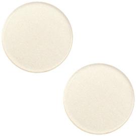 Polaris Cabochon Coin Flat 12 mm Silk Beige (per 1)