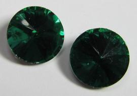 Glas Rivoli 10 mm Emerald (per 3)