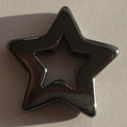 Pendant Hematite Star E1320 (per 1)