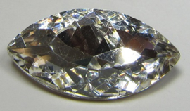 Glass Navette 17 x 32 mm Crystal (per 1)