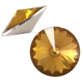 Resin Rivoli 12 mm Topaz Opal (per 3)