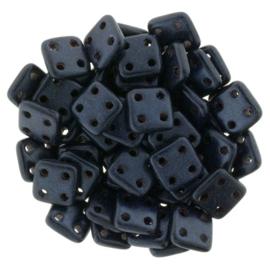 CzechMates QuadraTiles Metallic Suede - Dark Blue (per 5 gram)
