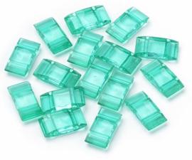 Verdeler Acryl Light Emerald 17 x 9 x 5 mm (per 10)