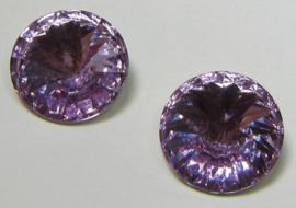 Resin Rivoli 12 mm Light Violet (per 3)