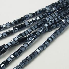 Facet Kubus 3 mm Hematite F232 (per 98 kralen)
