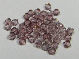 Swarovski Bicone 3 mm Crystal Antique Pink (per 50)