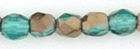 Fire Polished 3 mm Copper - Emerald (per 75)