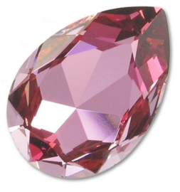 Swarovski Druppel 4327 30 x 20 mm Crystal Antique Pink (per stuk)
