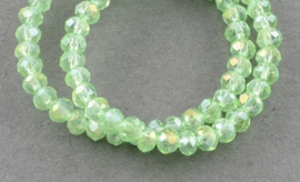Faceted Rondelles 2 x 2,5 mm Green AB F1301 (per 198 beads)