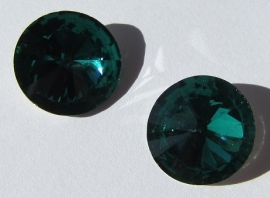 Glass Rivoli 16 mm Emerald G519 (per 2)