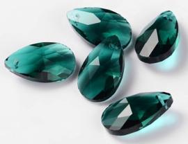 Glas Druppel Hanger 22 mm Emerald (per stuk)