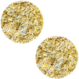 Polaris Cabochon Munt Plat 20 mm Goldstein Sunflower Yellow (per stuk)