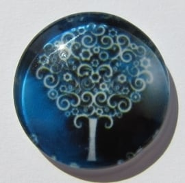 Cabochon Glas Boom Donkerblauw G398-D (per stuk)