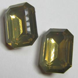 Resin Rechthoek 13 x 18 mm Sand Opal (per 2)