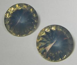 Resin Rivoli 18 mm Grey Opal (per 2)
