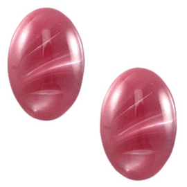 Polaris Cabochon Oval 13 x 18 mm Look Rumba Red (per 1)