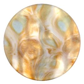 Polaris Cabochon Coin Flat 35 mm Perseo Matt Grey Topaz (per 1)