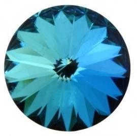 Swarovski Rivoli 12 mm Crystal Bermuda Blue (per 1)